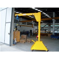 Mobile Moving Luffing Jib Crane 1 Ton Best Price