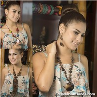 Set Necklace & Earrings (ASSORTED) Wholesale Tagua Jewelry Handmade EcoIvory - Jc002