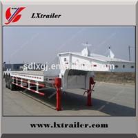 Liangxiang 3 Axles Flat Low Loader Semi Trailer / Drop Deck Trailer
