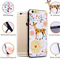 3D Embossing Design Soft TPU+PC Protect Cover for Cartoon Mobile Phone Cases for iPhone 7 /7plus