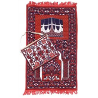 Easy Trade Red Navy Prayer Mat with Matching Carry