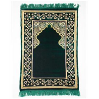 Prayer Mat with Soft Memory Foam & High Quality Fabric - Green