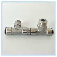 Stainless Steel Tee Male Pneumatic Fittings