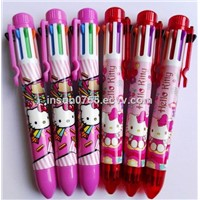 8 Colors Ballpen, Heat Transfer Printing Logo Available, Promotional Gift Stationery