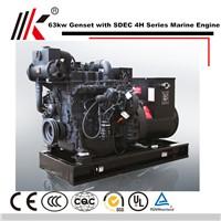 66KW MARINE GENERATOR with SDEC SC4H110CA DIESEL BOAT ENGINE