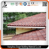 Hot Building Material Classical Corrugated Colorful Stone Coated Metal Roof Tile Roofing Aluminium Sheet