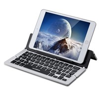 Metal Tri-Foldable Universal Compact Bluetooth Keyboard with Kickstand for Tablets SLBK-18
