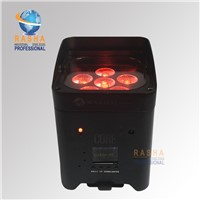 New Core 6pcs*15W 5in1 RGBAW APP IRC Mobile Battery Powered Wireless LED Par Light Freedoom Par Can