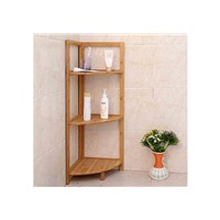Bathroom Bamboo Corner Shelf
