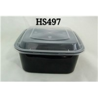 Square 1000ml Thicken Disposable PP Plastic Microwaveable Food Packing Box with Inner Tray