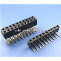 1.27mm 0.5inch Socket Strip Header Connector for LED Lamps Dual Rows
