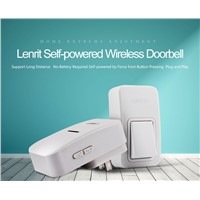 Wireless Doorbell No Battery 3 Levels Adjustable 38 Tunes ABS Flame Retardant Material