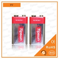 9V 6LR61560mAh Alkaline Battery for Smoke Detector