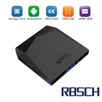 RBSCH M92S Amlogic S912 Chipset Octa Core Android 6.0 2GB RAM 16GB ROM Smart Android TV BOX