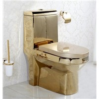 Bathroom Ceramic Sanitary Ware Gold-Plated Toilet KD-03GP1
