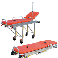 Approved 3B Adjustable Aluminum Alloy Ambulance Stretcher with Waterproof Cushion