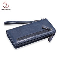 Fashion Large Capacity Style Long Ladies Purse Women Clutch Wallet Guangzhou Factory Zipper Bifold Back-Pull Wallets