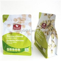 Nuts Packaging | Flat Bottom Bag with Pocket Zipper