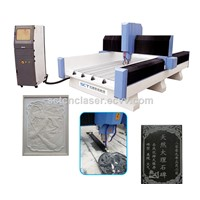 Heavy-Duty Frame Stone Carving Machines/Granite Engraving CNC Router with 5.5kw Spindle
