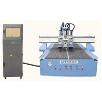 Wood Furniture Making ATC CNC Router with 3 Pneumatic Tool Change Spindle