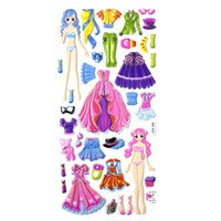 Dress up Girls Puffy Stickers with DIY Sets