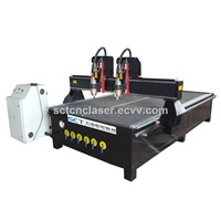 China Hobby Muilti Head Two Head In One Low Cost CNC Router