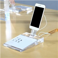 Appropriative Mobile Clear Acrylic Display Stand for iPhone Retail Store Support Exhibition