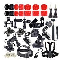 for Gopro Accessories Set Outdoor Sports Kit Go Pro Accessories ForFor Gopro Hero 4 3+ 3 Sj4000 Sjcam Camera Xiaomi Yi