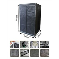 "48""X24""X60"" Mylar Hydroponic Grow Tent with Obeservation Window & Floor Tray for Indoor Plant Growing 2'X4'"