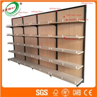 Supermarket Steel-Wood Combination Display Shelf Rack