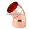 45 Degree Street Pipe Elbow End Feed Copper Fitting Capillary Copper Solder Fitting