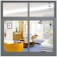 2017 Model White Aluminum Alloy Casement Window Double Tempered Glass