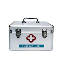 Home Medicine Box Custom First Aid Box Aluminum Alloy Medicine Box Health Care Kit First Aid Kit