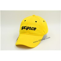 100% Polyester 6 Panel 3D Embroidery Golf Baseball Cap
