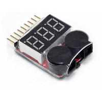 1-8S Battery Display Low Voltage Buzzer Alarm 2IN1 Tester Module Battery Display Alarm Module with BB Ring LP