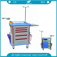 Hospital Crash Cart ABS Medical Emergency Trolley