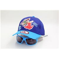 Kids Hat 6 Panel Printing Baseball Cap with Sunglasses
