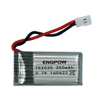 3.7V 350mAh Lithium Battery Hobson H107d Overflight FY310B Day Branch M62R Remote Control Four-Axis Belt Protection