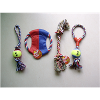 4 Pack Dog Rope Toy Puppy Cotton Teeth Cleaning Rope Toys & Training Frisbee