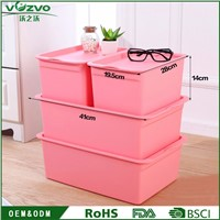 Customized PP Plastic Storage Container Box for Household