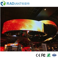 P3.0 Creative Indoor Full Color HD Flexible LED Curtain Display Screen