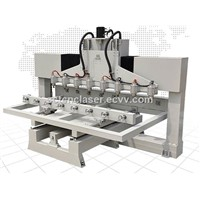 Brand New Wood Four Axis Rotary 3D CNC Router for Wood Stair Handrail Processing