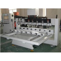 SCT 8 Head 3D Engraving Multi-Heads Wood CNC Router
