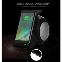 Mobile Phone Stand Bluetooth Speaker Qi Wireless Charger for S8 S7 Plus Note5