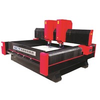 SCT-S2025D Double Heads Stone CNC Router for 3D Relief On Marble & Granite Etc