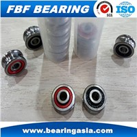 V Groove Guide Track Roller Bearings RM4 2RS RM4ZZ Wheel Bearing Used for 15mm Linear Shaft