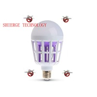 E27 15W White Light + 365 NM Purple Light Fly Pest Insects Reject Zapper Mosquito Killer LED Ball Steep Light Bulb Light