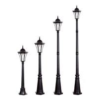 Energy Saving White LED Light Source European Style Garden Lamp Post Solar LED Post Light