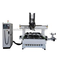 Auto Tool Change CNC Router Machine 4 Axis with Rotate Spindle