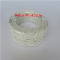 22 AWG White Color 100m Hook up Telfon Electrical Wire PFA Insulaterd Stranding Silver Plated Copper Electric Wire